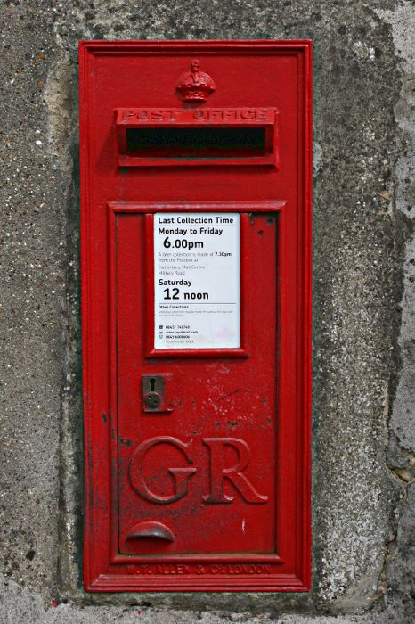 GR George V red letter wall box