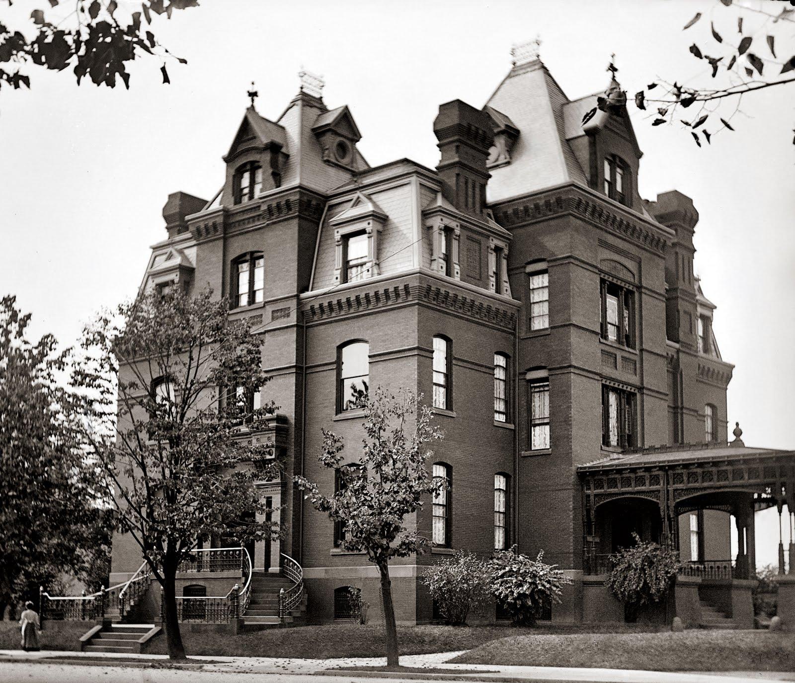Vintage ephemera blaine mansion 1900 for 1900 architecture houses