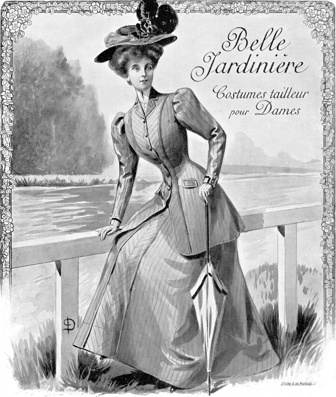 Vintage Ephemera French Fashion 1907