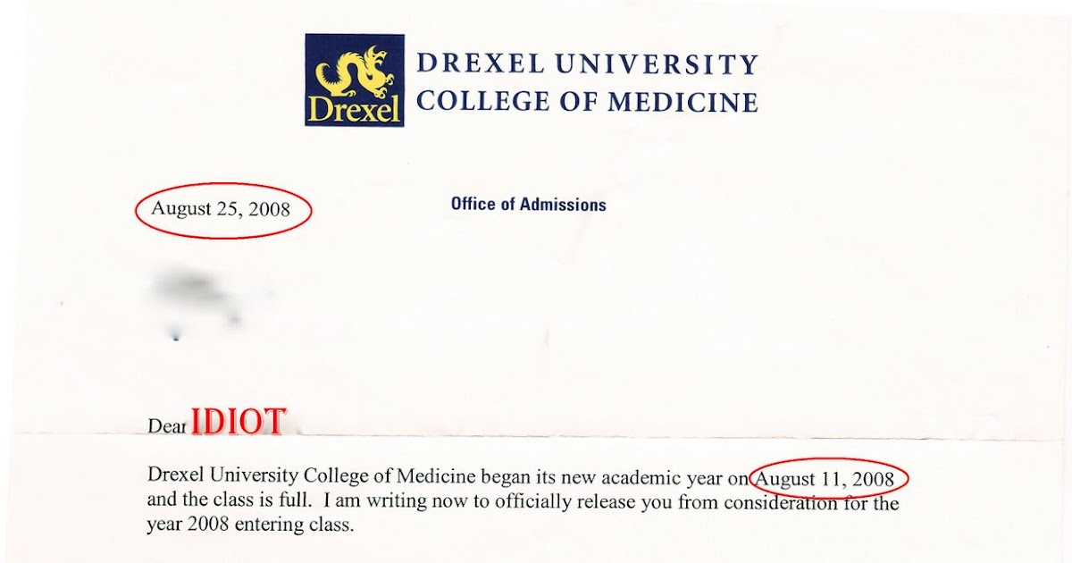 the week drexel university college of medicine thinks i am un smart