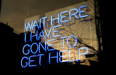 Wait Here I Have Gone to Get Help by Tim Etchells