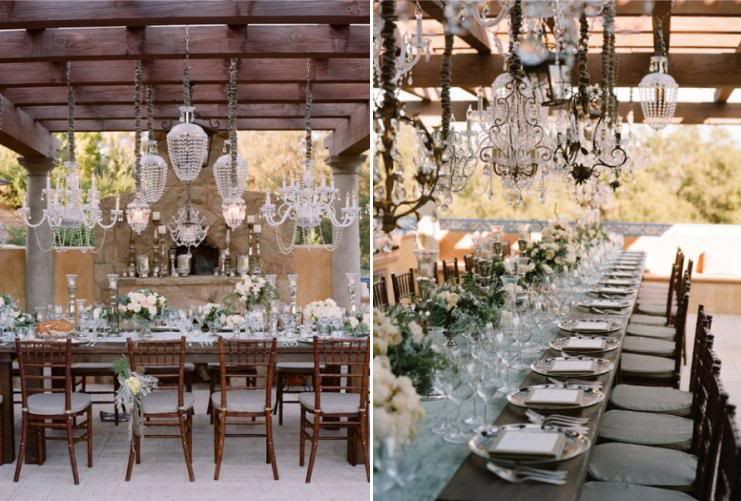 Have Chandeliers as a feature in your wedding you will thank me later