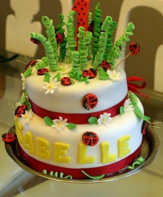 Ladybug Birthday Cake on Ladybug Cake Serves 30