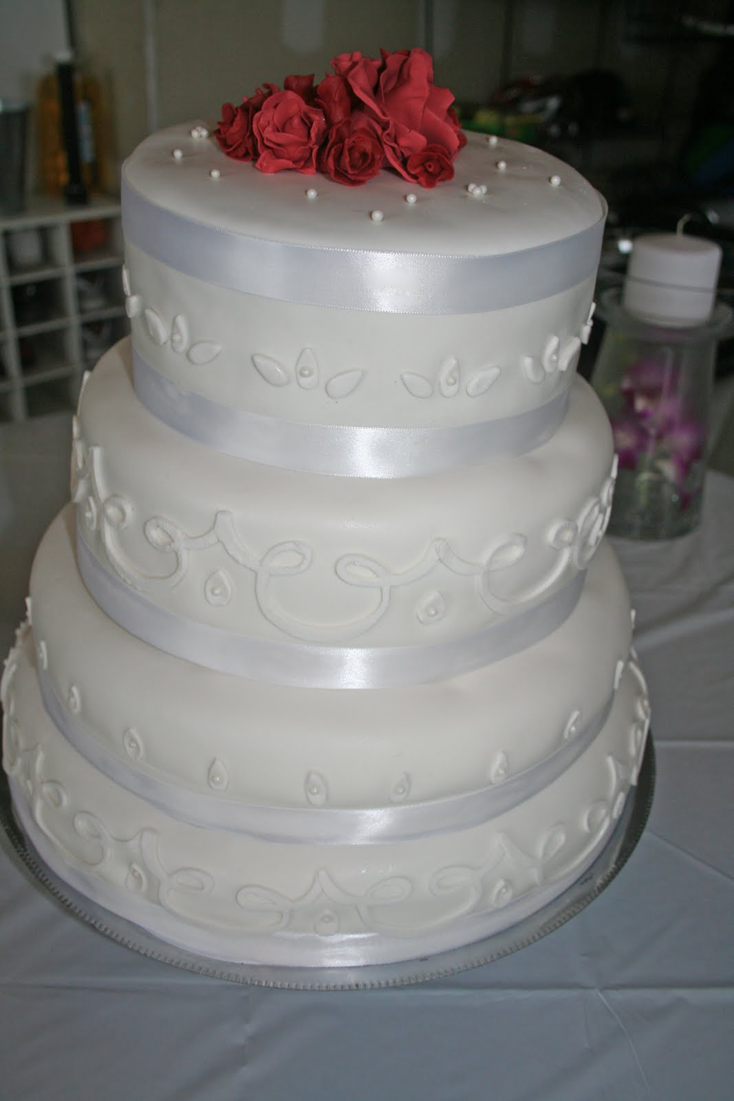 Tastefully Done Simple Elegance Wedding Cake Serves 200