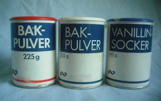 Blåvitt: Bakpulver, Vanillinsocker