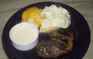 Steak with Honey Mustard Sauce