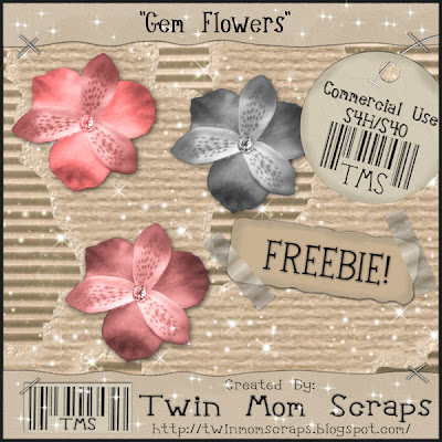 http://twinmomscraps.blogspot.com/2009/06/friday-freebie-gem-flower.html