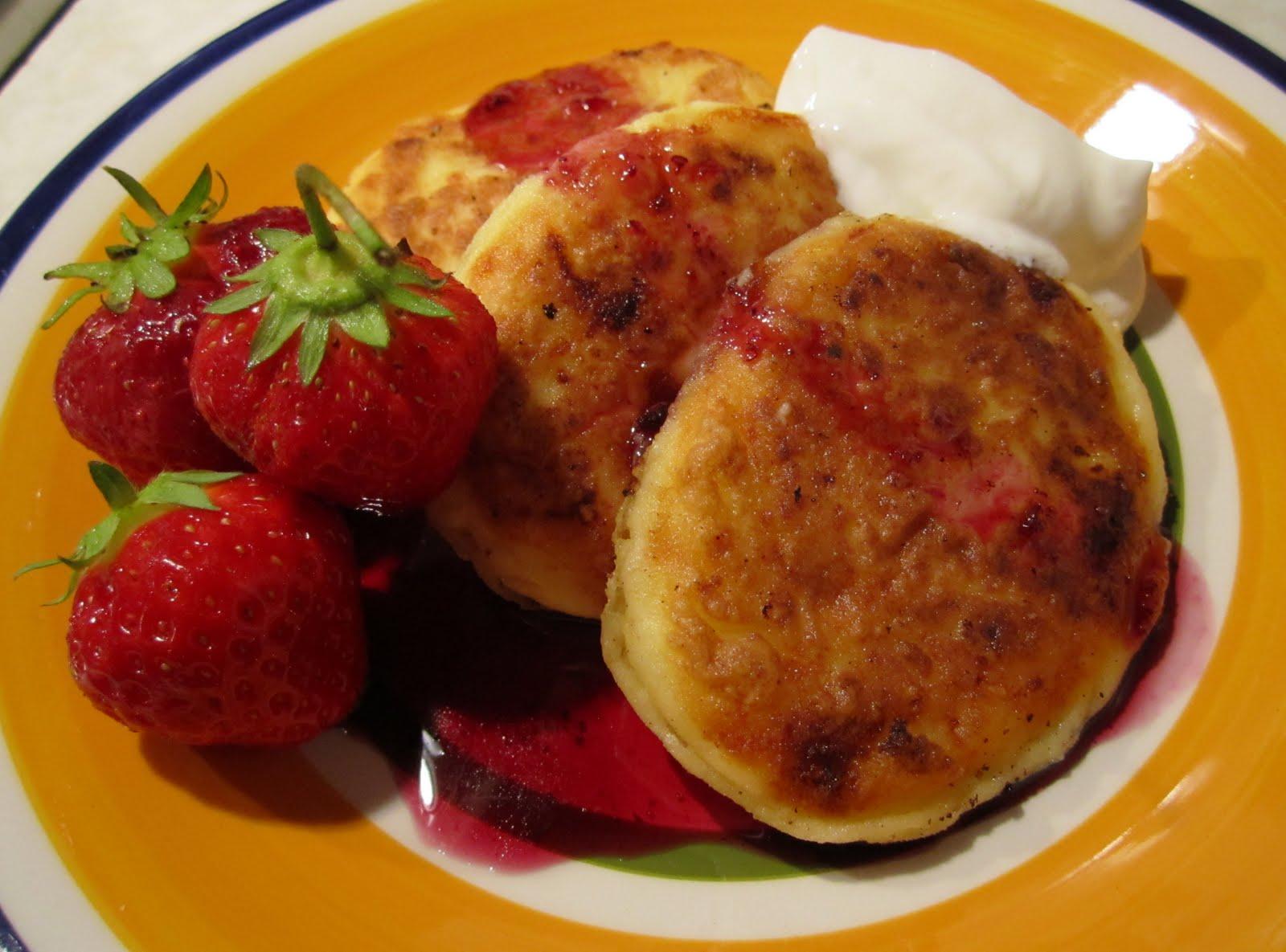 Farmers cheese pancakes syrniki recipe recipestudio ccuart Images
