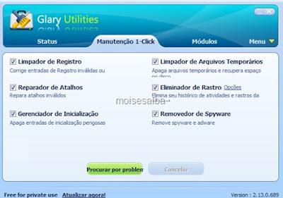GlaryUtilities,moisesalba,dicas de programas,aplicativos e tecnologia
