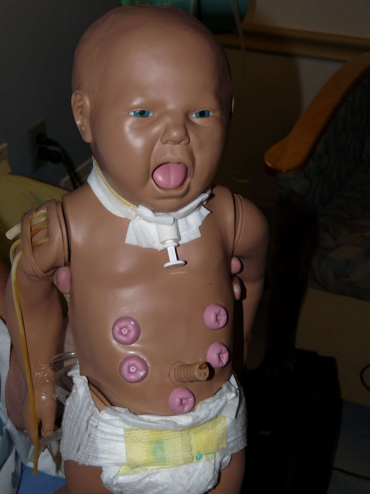 Thing we introduced scary stoma doll to lee and this was his reaction
