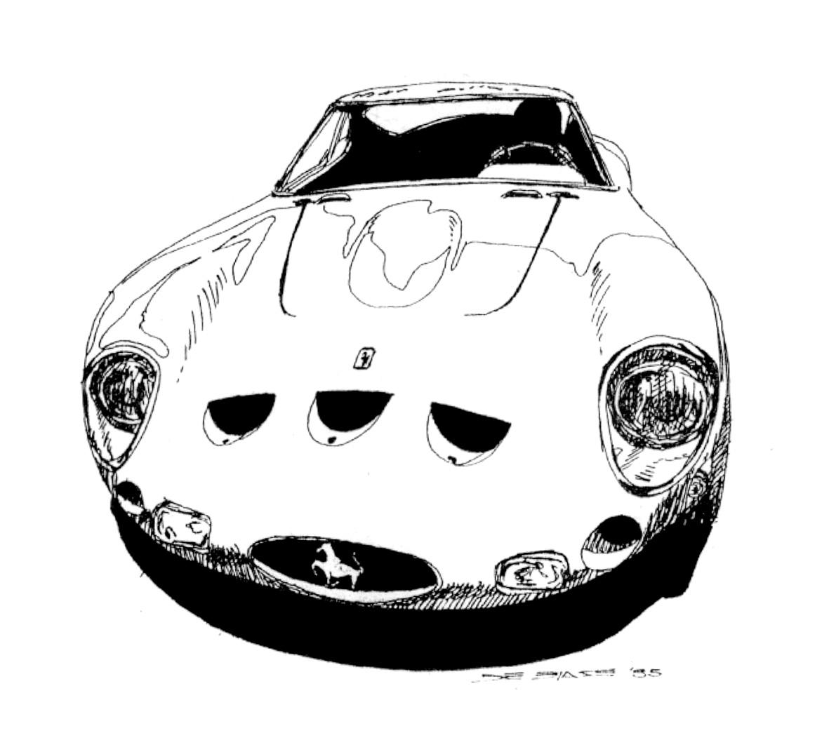 ilustraciones de autos clasicos y sport