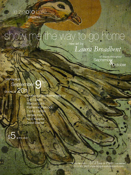show me the way to go home - new art by Laura Broadbent