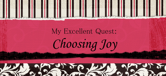 My Excellent Quest: Choosing Joy