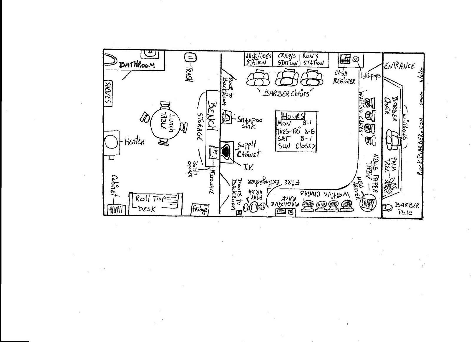 Craig 39 S Barbershop Floor Plan