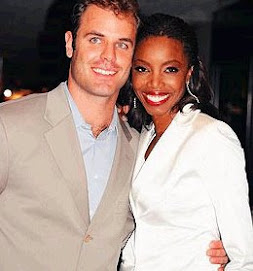 Heather Headley and her happy hubby...