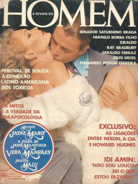 Jayne Marie e Vera Manhães - Playboy 1976