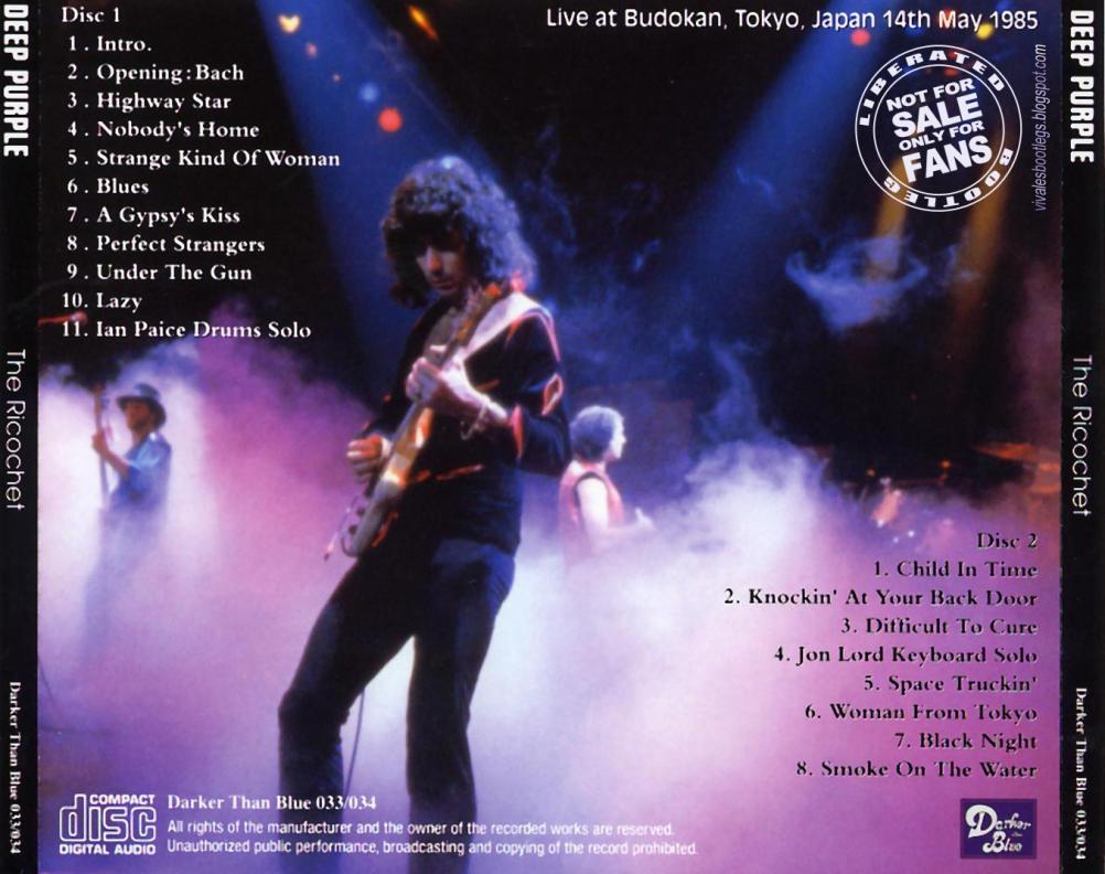 Deep purple the ricochet budokan tokyo japan 1985 double cd