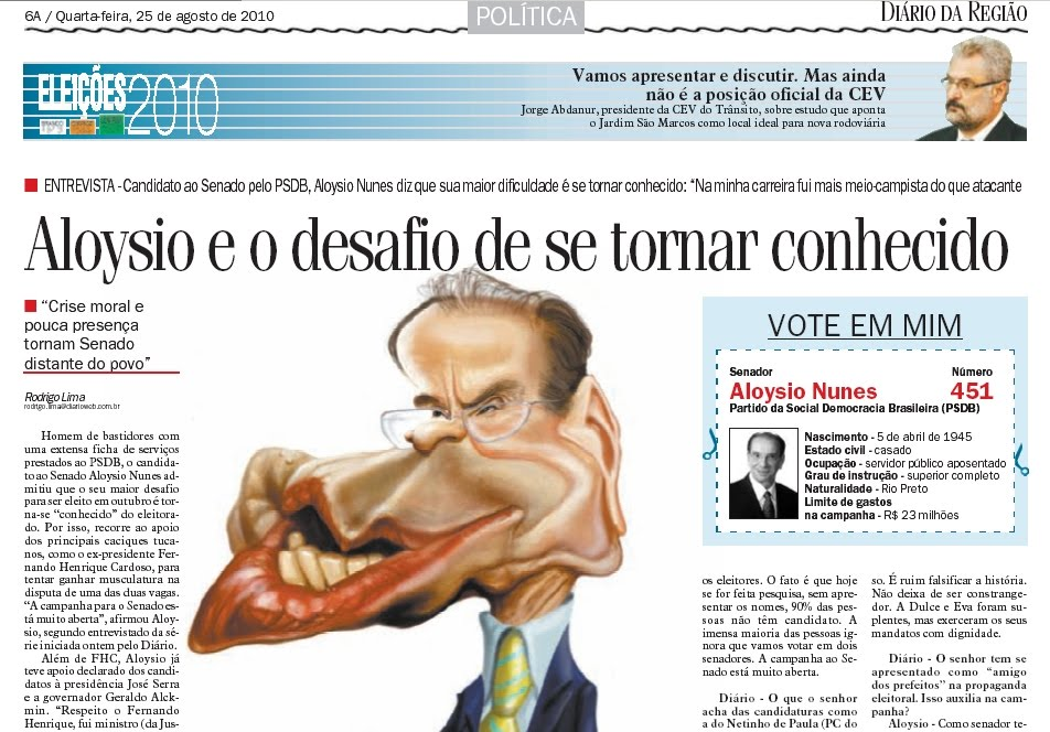aloisio nunes e geraldo PSDB acordo revista veja