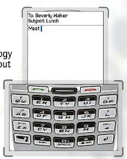 Blackberry keyboard and screen together