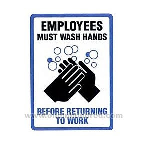 picture regarding Employees Must Wash Hands Sign Printable named The 3 Sisters Weblog: Workers Really should Clean Palms