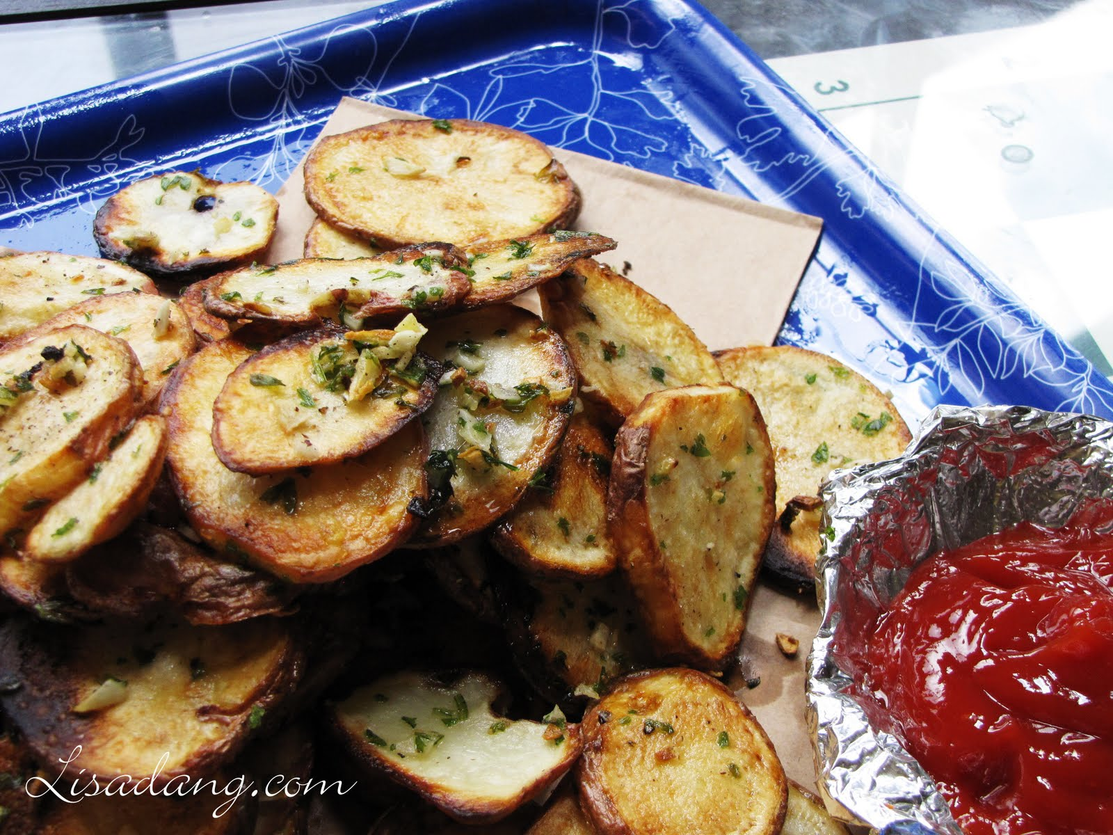 Dang It Delicious: Garlic Red Potato Circles...like round fries