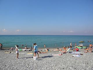 Галечный пляж Якорной щели