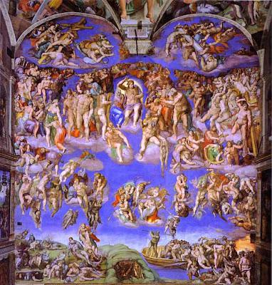 El Juicio Universal, Mural al fresco, Capilla Sixtina, Miguel Ángel