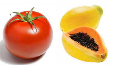 tomate e mamão, no blog good news de Isabella Lychowski