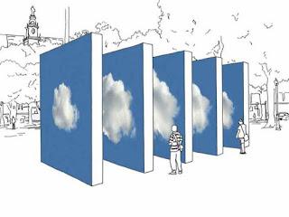 Instalação Nuvem de Eduardo Coimbra, publicada no blog good news de Isabella Lychowski