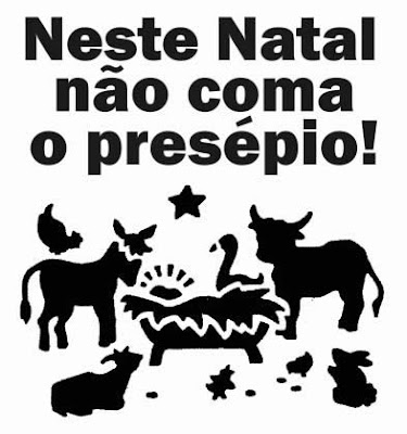 Don´t eat the animals of the Christmas crib, não coma o presépio, here on good news, by Isabella Lychowski