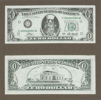 Zero Dollar, de Cildo Meireles