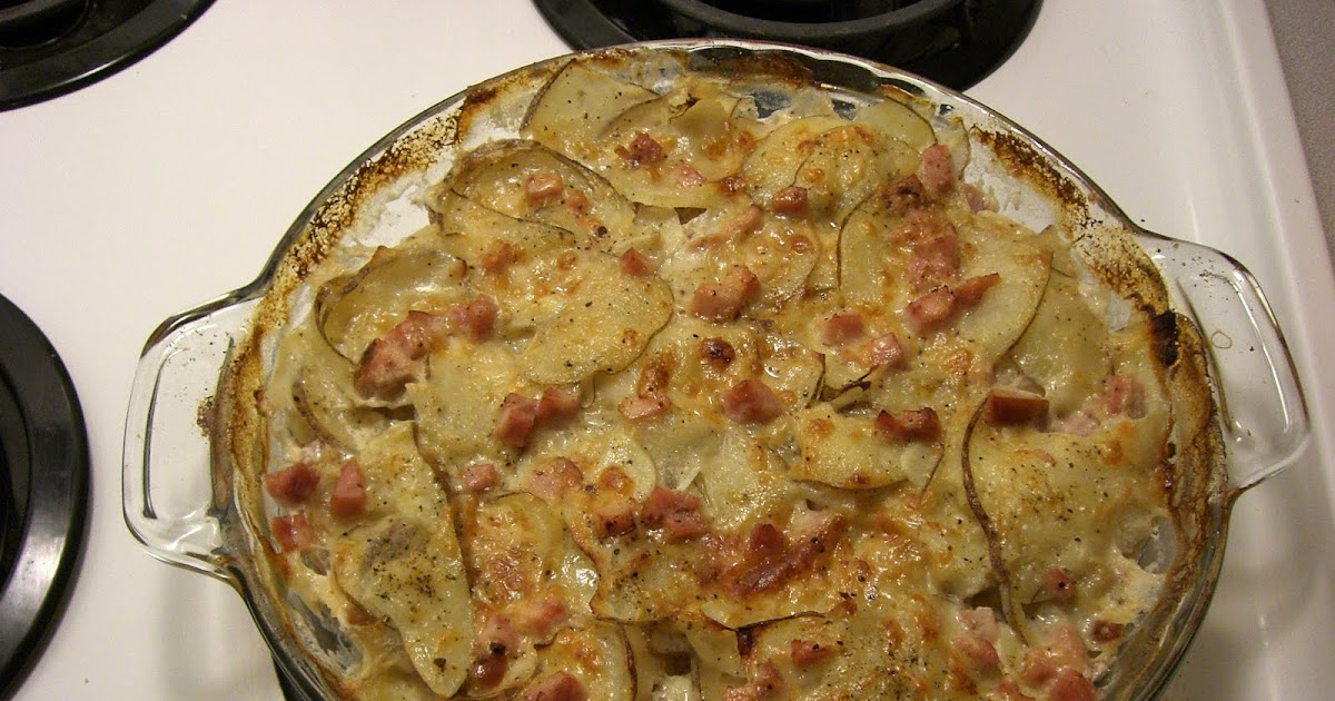 Macy Bakes: Easy Potato Gratin with Ham