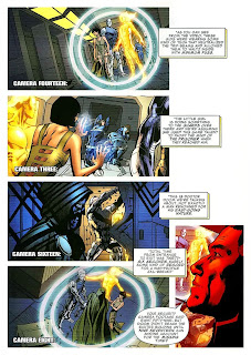 Fantastic Four #558, page 11, written by Mark Millar and drawn by Bryan Hitch