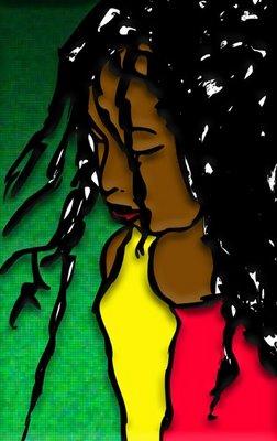 Menina negra triste