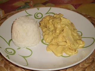 Pollo al curry ...