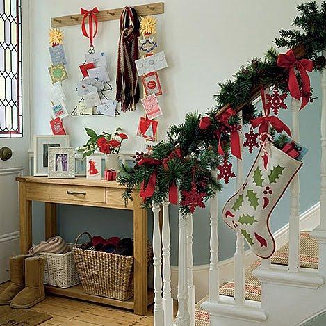 espaciohogar com wp content uploads Christmas Decor Ideas by Ideal Home 6 thumb Sugestões para decoração natalina no Hall de entrada ou corredor.
