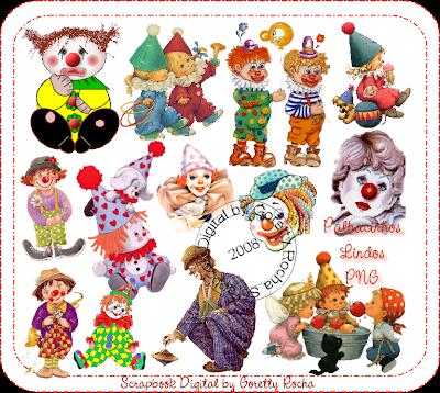 circo - {Kits Digitais} Circo, Palhaço, Patati, Patatá Palhacinhos_lindos_byGorettyRocha_preview
