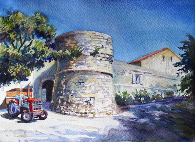 my french easel postcard from the south of france