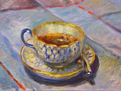 Painting-teacup