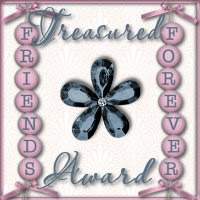 Treasured Award received from Linda