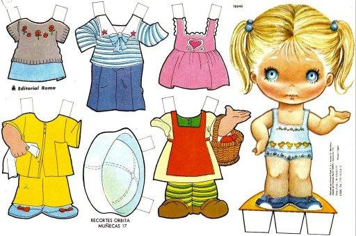 TE CUENTO UN CUENTO: Muñequitas de papel para vestir
