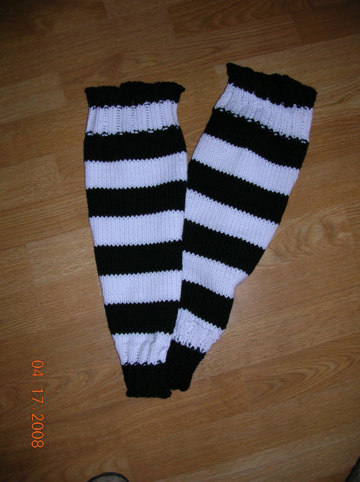 The Pixie House: Hockey Sock Knit Pattern Tutorial