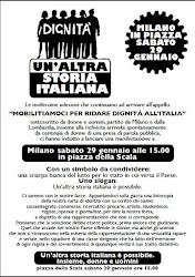 UN'ALTRA STORIA ITALIANA - MILANO IN PIAZZA SABATO 29 GENNAIO