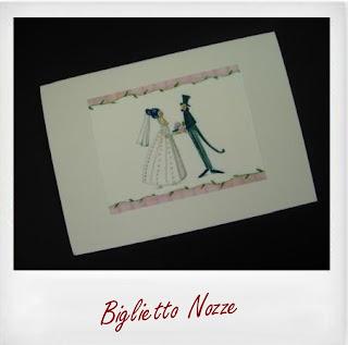 biglietto nozze matrimonio