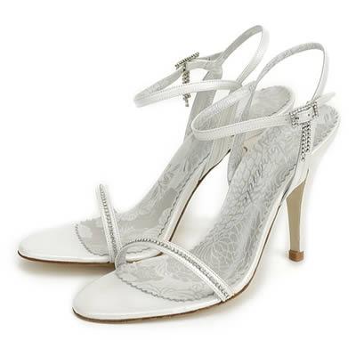 Sandalias para Novias con Hebilla en pedrería Amante | Shoespanish