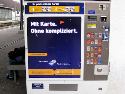 Credit card operated cigarette machine