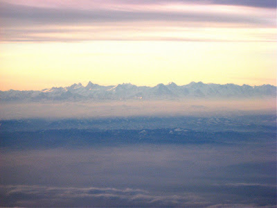 Swiss Alps from 10,000 feet