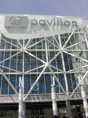 Game Day at HP Pavilion, San Jose, California