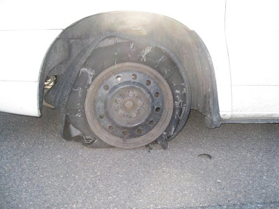 Tire wreckage