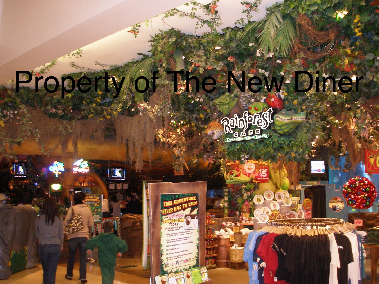 The New Diner: Rain Forest Cafe- Costa Mesa-Closed